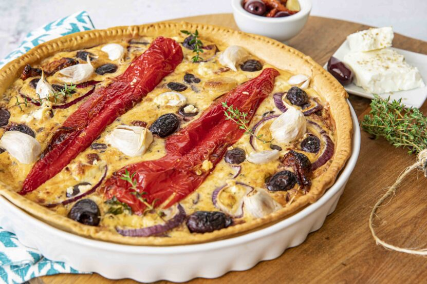 Quiche with Kalamata olives